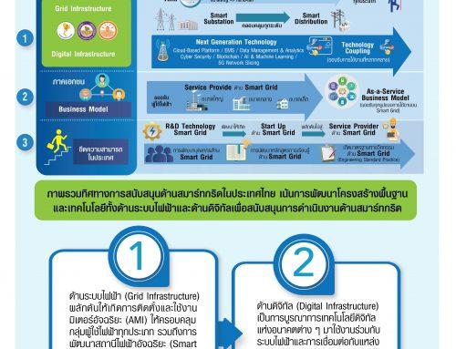 ภาพรวมทิศทางการพัฒนาแผนอำนวยการสนับสนุนการขับเคลื่อนการดำเนินงานการด้านสมาร์ทกริดในประเทศไทย